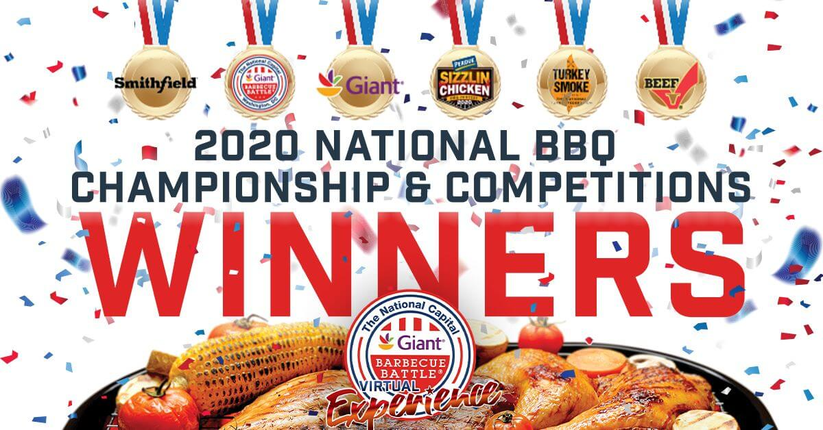 Giant National Capital BBQ Competition winners