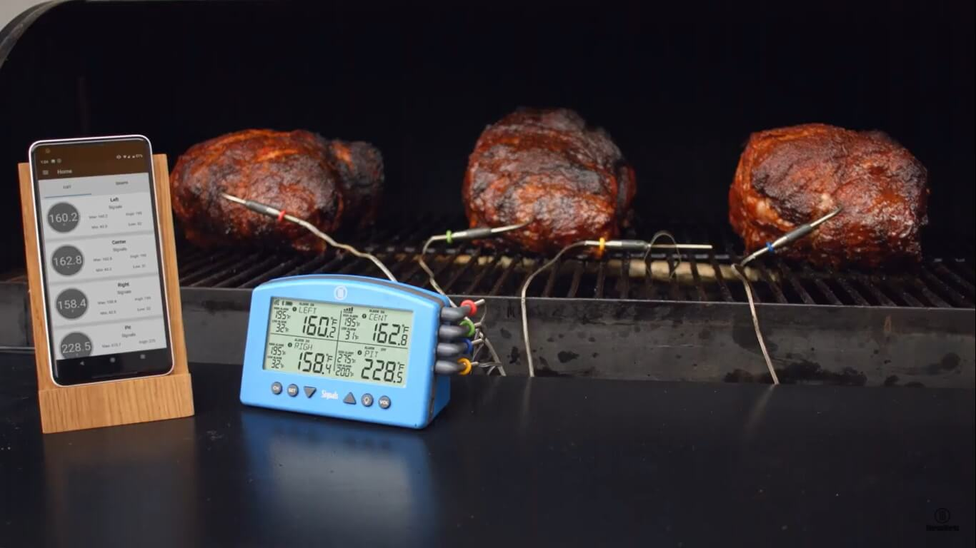 signals bbq thermometer connectivity with app;ication