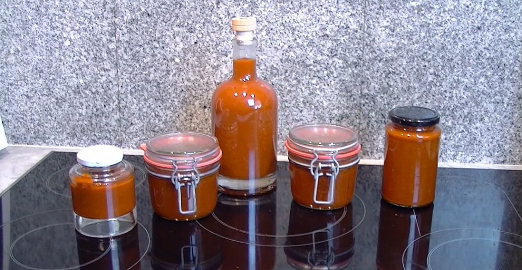 Chipotle BBQ Sauce in glass jars