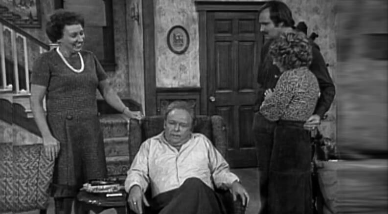 """Archie Bunker Performing in """"All in the Family"""" tv show"""