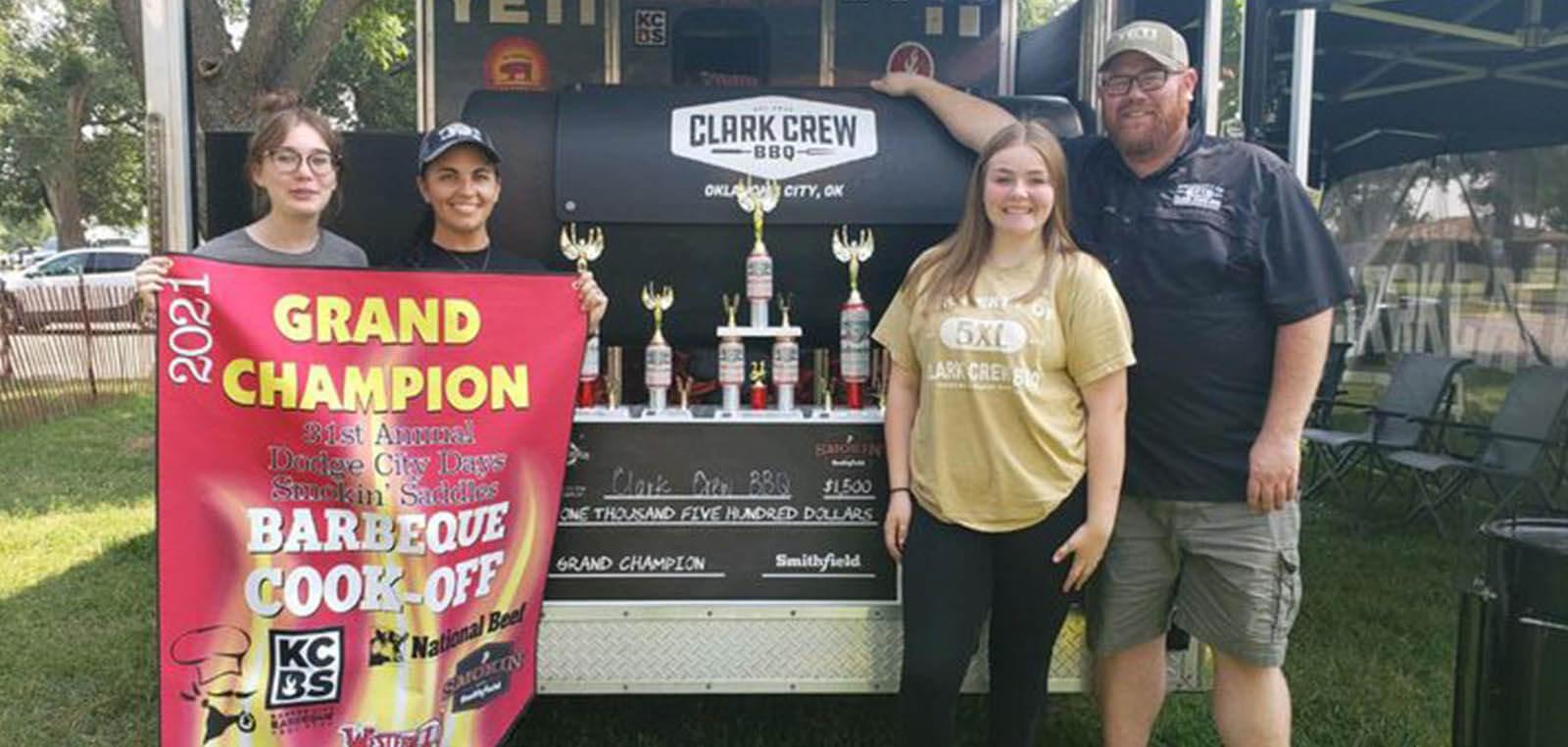 the Clark Crew BBQ team members